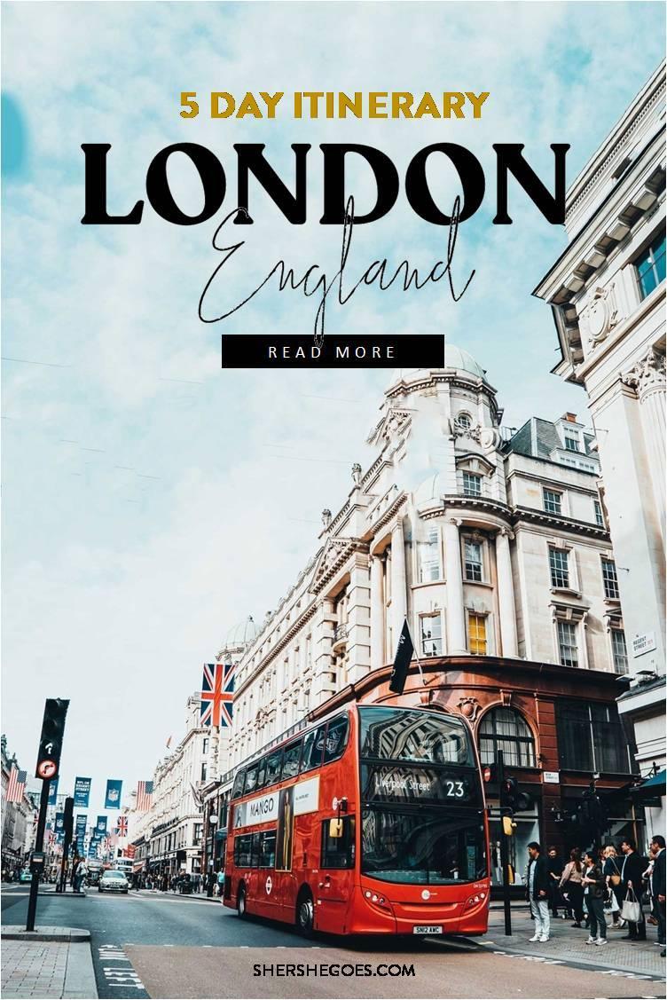 5 day London itinerary