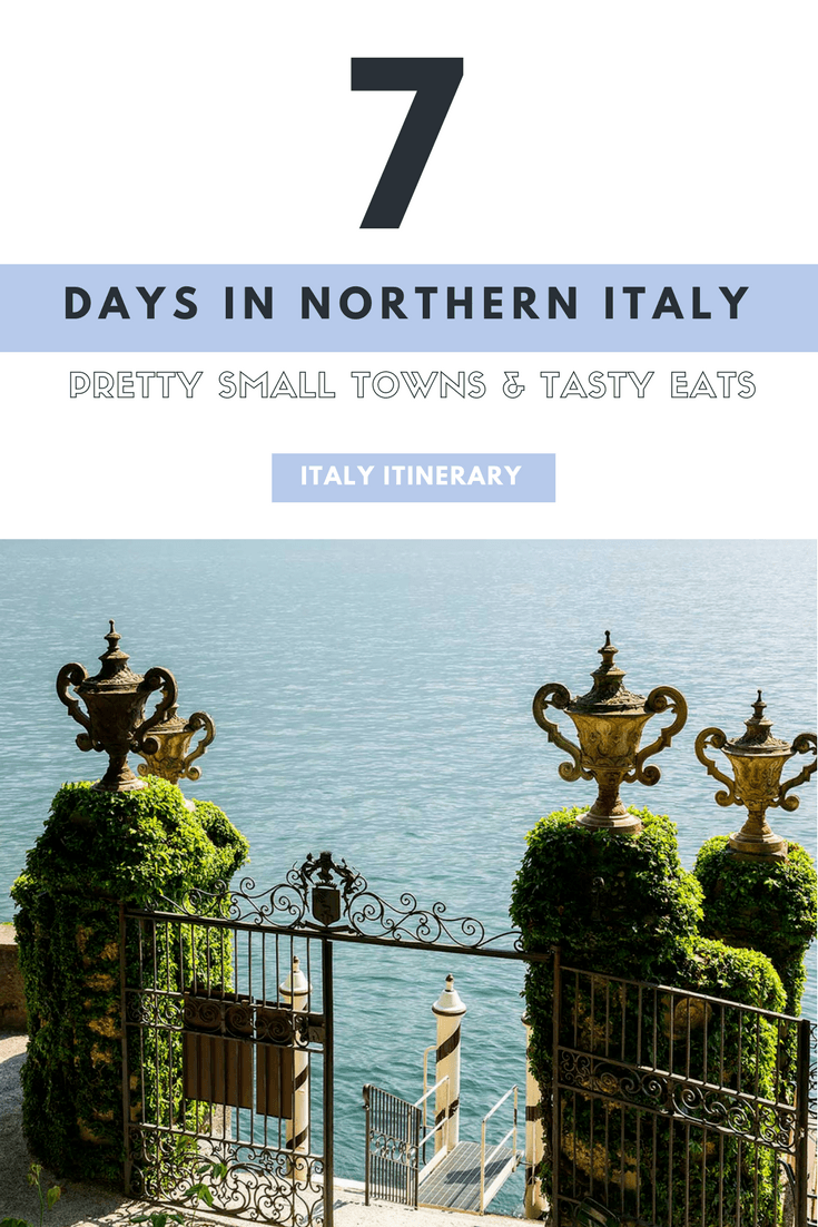 7 day northern italy itinerary