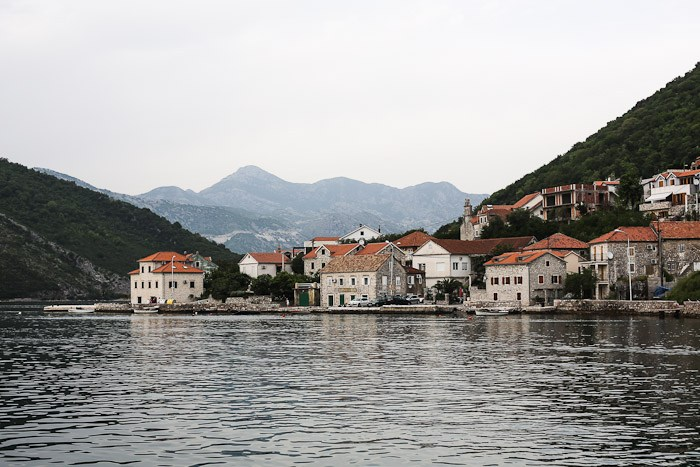 Water Sea Boat Montenegro Houses Landscape Pretty