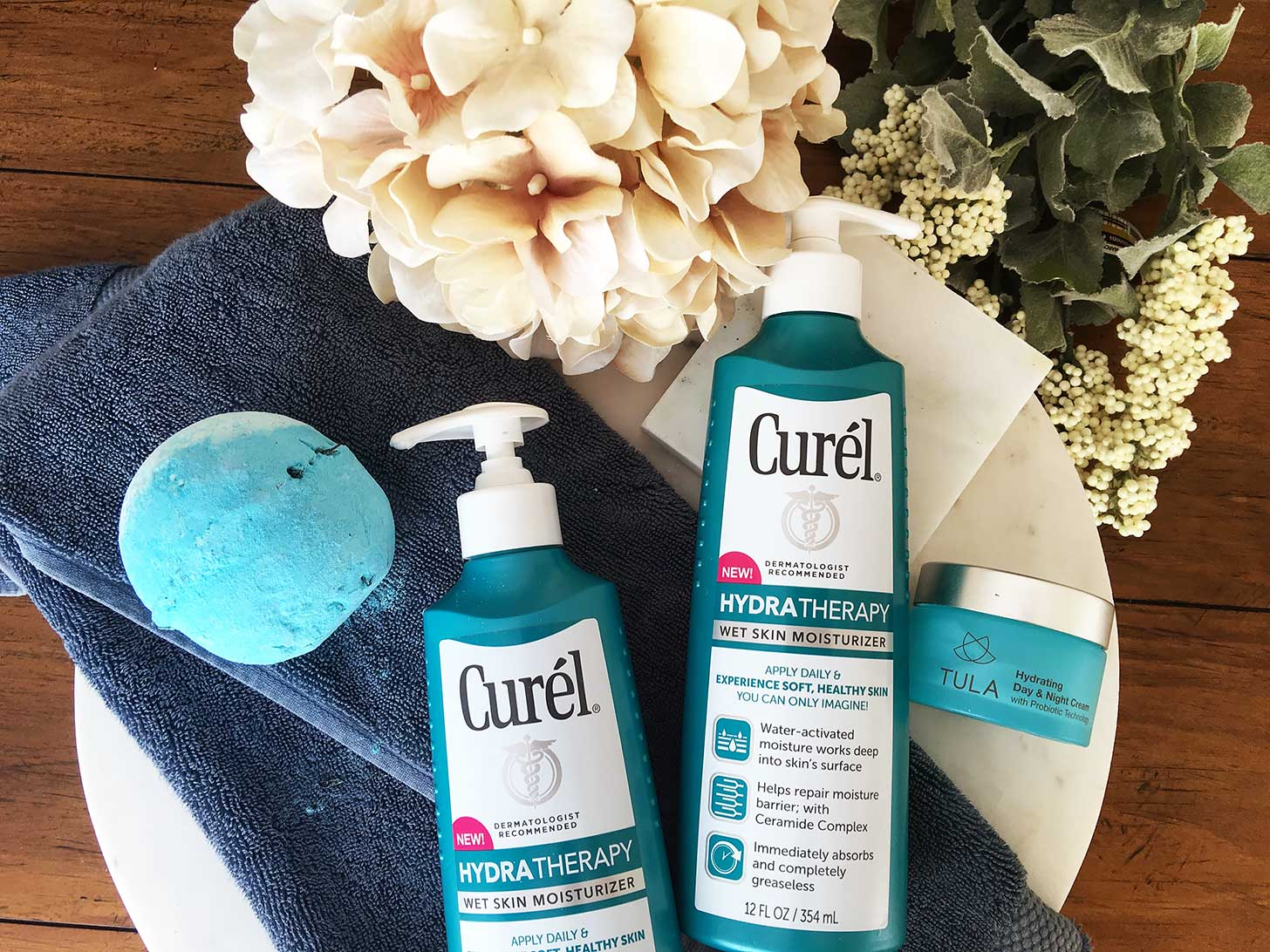 benefits of using a wet skin moisturizer curel hydra therapy review