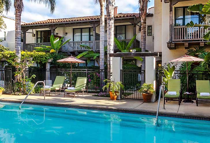 Best Hotels in Santa Barbara CA Spanish Garden
