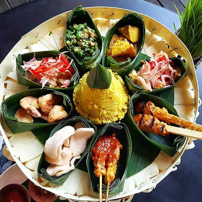 Best Things to Do in Indonesia - Indonesian Food Nasi Goreng Chicken Satay