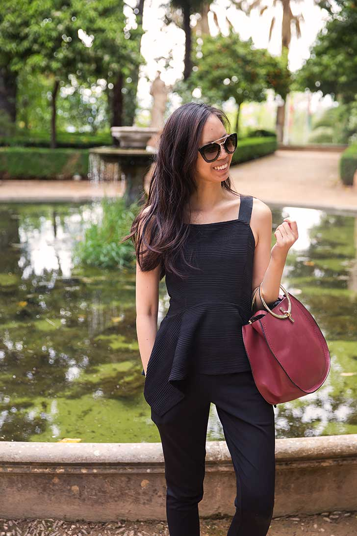 Black-peplum-summer-outfit-6