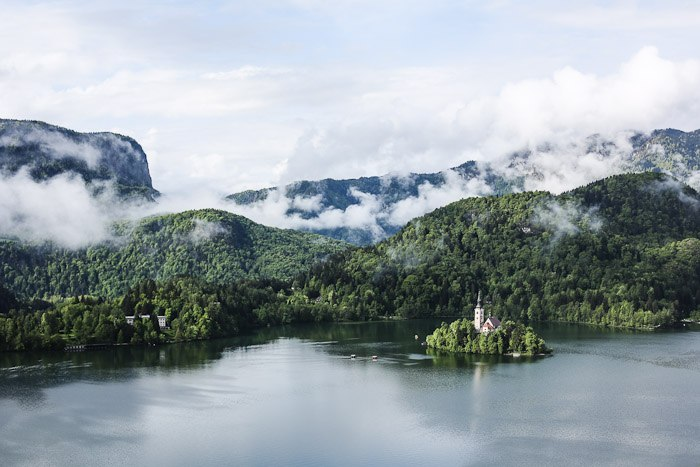Eastern Europe Lake Bled Travel Tourist Scenic Hiking Church Island
