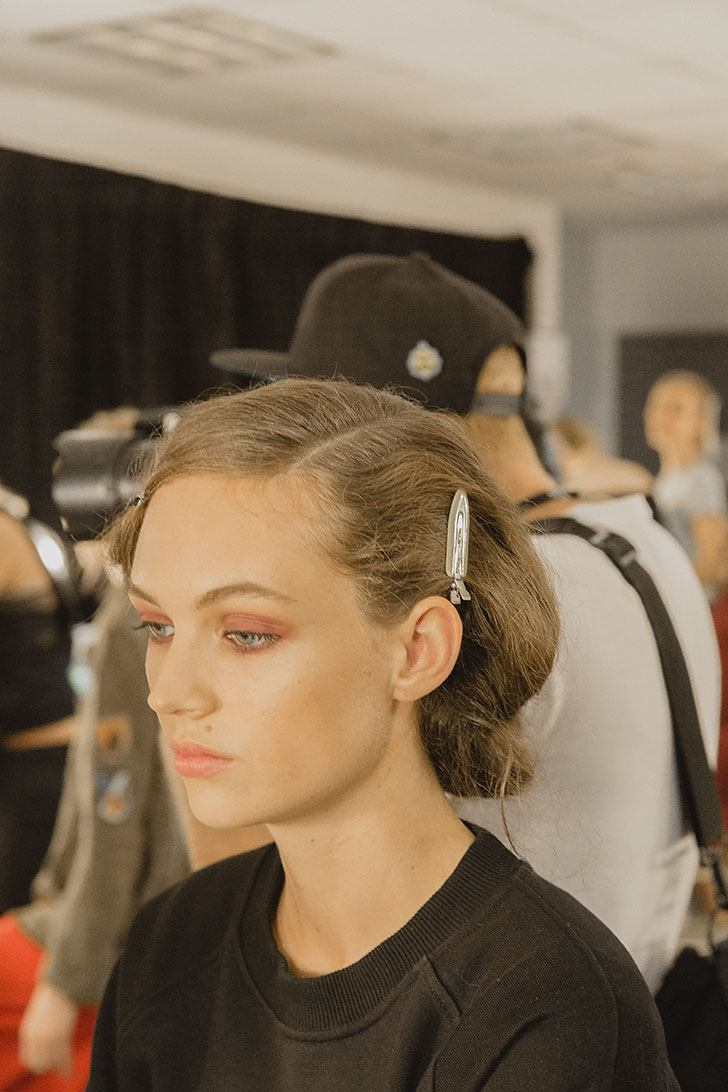 NYFW September 2017 Brock Collection SS 2018 Maybelline Makeup Backstage