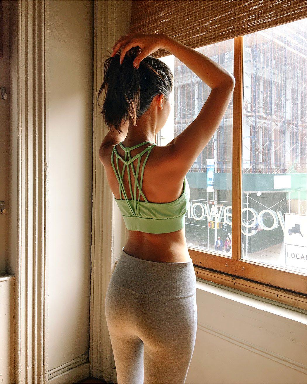 fabletics yoga sports bra leggings set