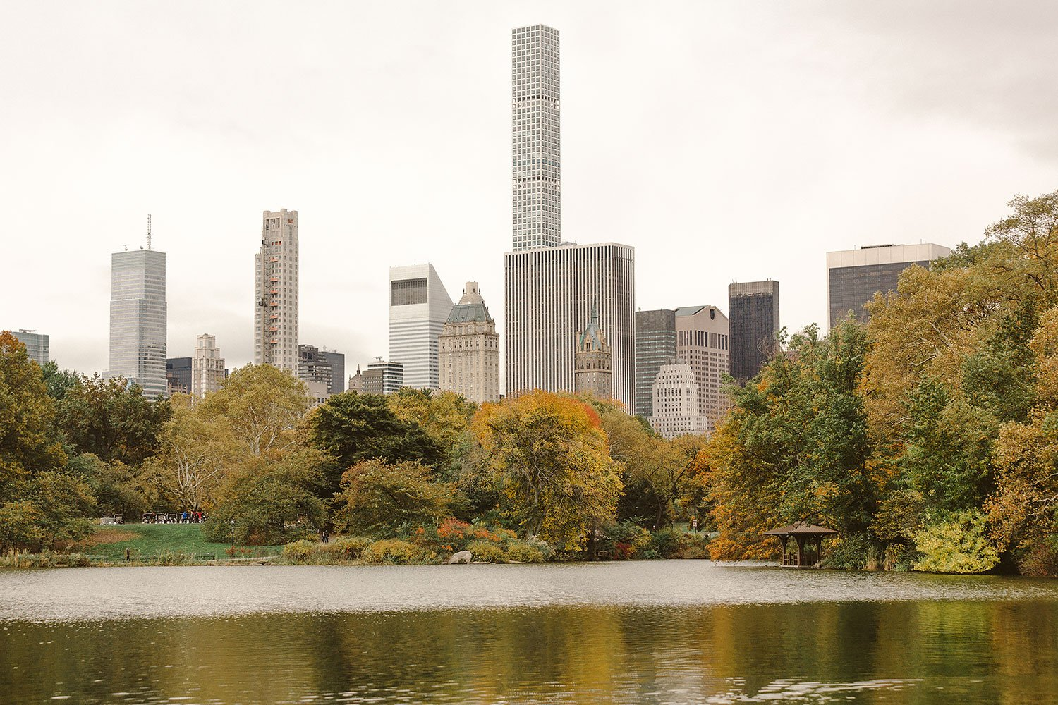 central park reservoir in new york city