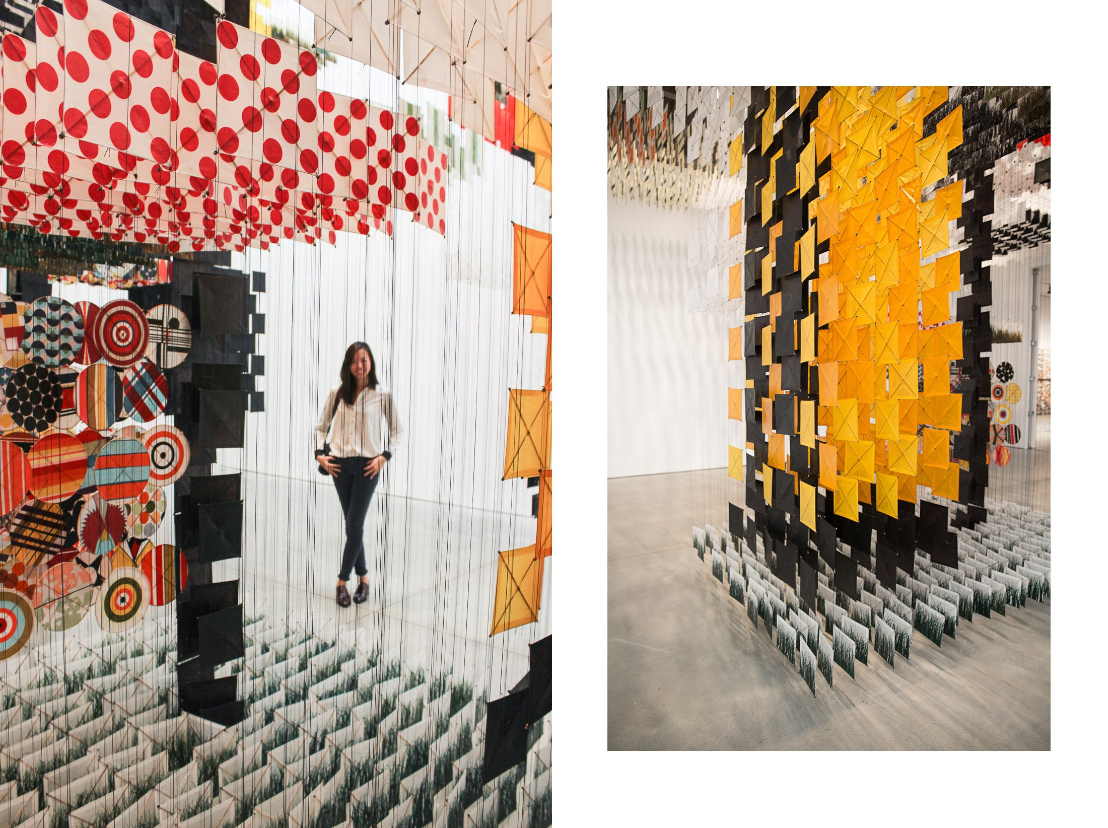 Jacob Hashimoto Sky Farm Fortress Mary Boone gallery Chelsea Galleries art artist kite installation shershegoes.com sher she goes