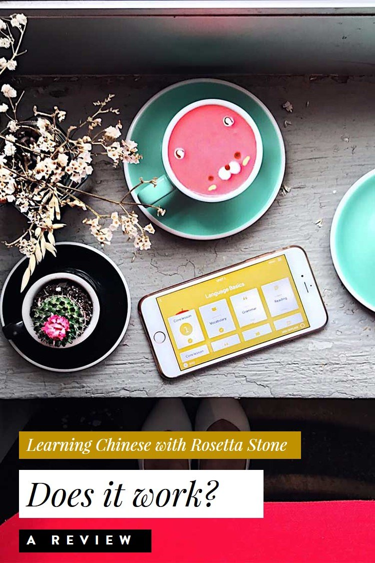 Learning Mandarin Chinese with Rosetta Stone