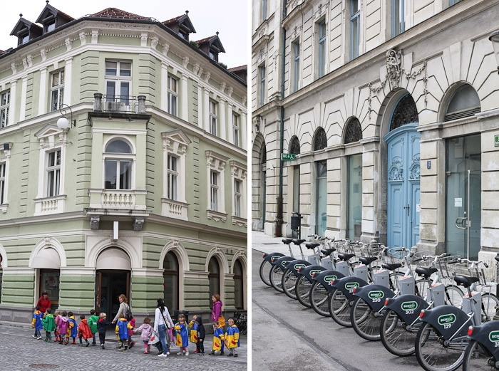 Eastern Europe Travel Tourist City Architecture Blue Bikes Kids
