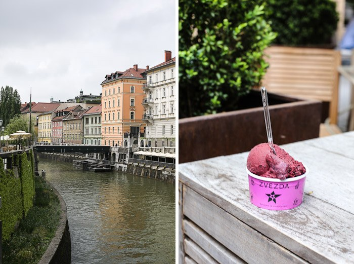 Eastern Europe Travel Tourist City Architecture Houses River Walk Gelato Ice Cream Raspberry