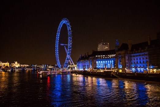 night photography big ben Westminster abbey clock scene city view london eye