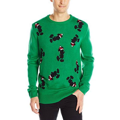 Mens Ugly Christmas Sweater with Disney Mickey Mouse