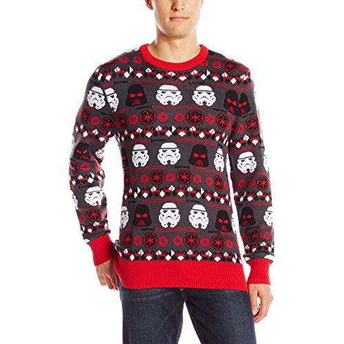Mens Ugly Christmas Sweater with Star Wars Darth Vader