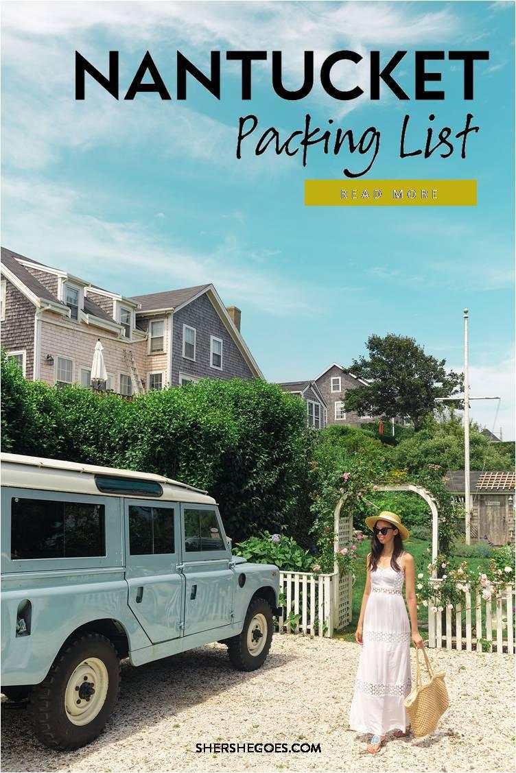 Nantucket packing list