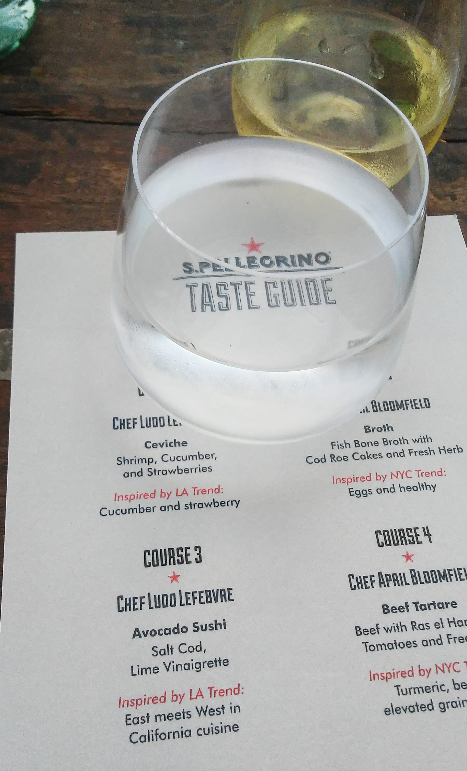 San Pellegrino Taste Guide event in NYC with Chef April Bloomfield