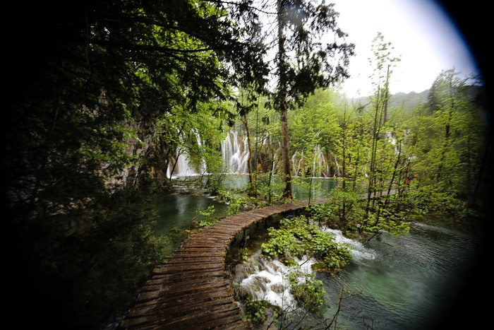 Eastern Europe Croatia Tourist Travel Hiking Hike Trail Waterfall Scenic