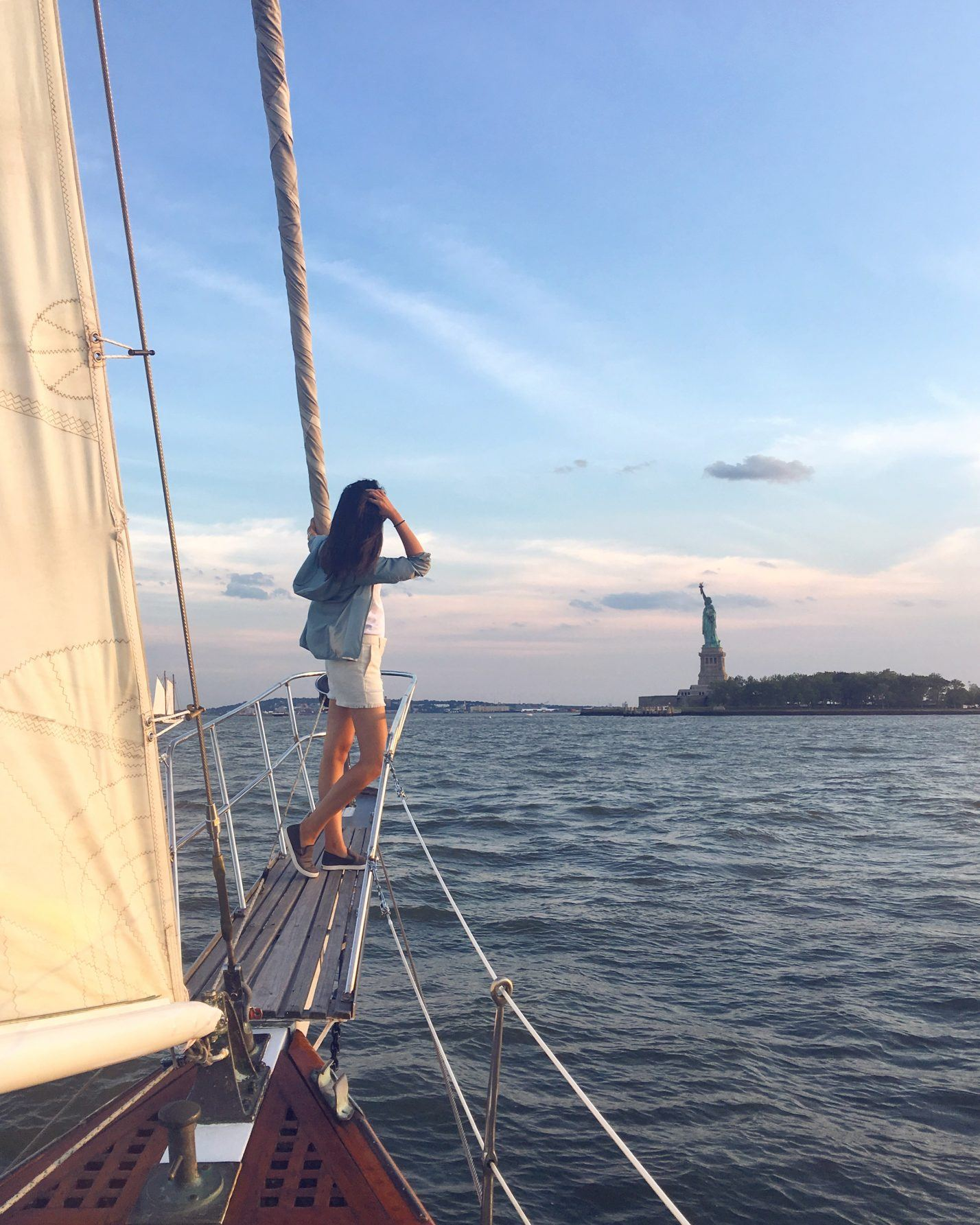 Sailboat Ride Around Manhattan in Uniqlo Sport Olukai Pehuea Sneakers Life in Lifewear