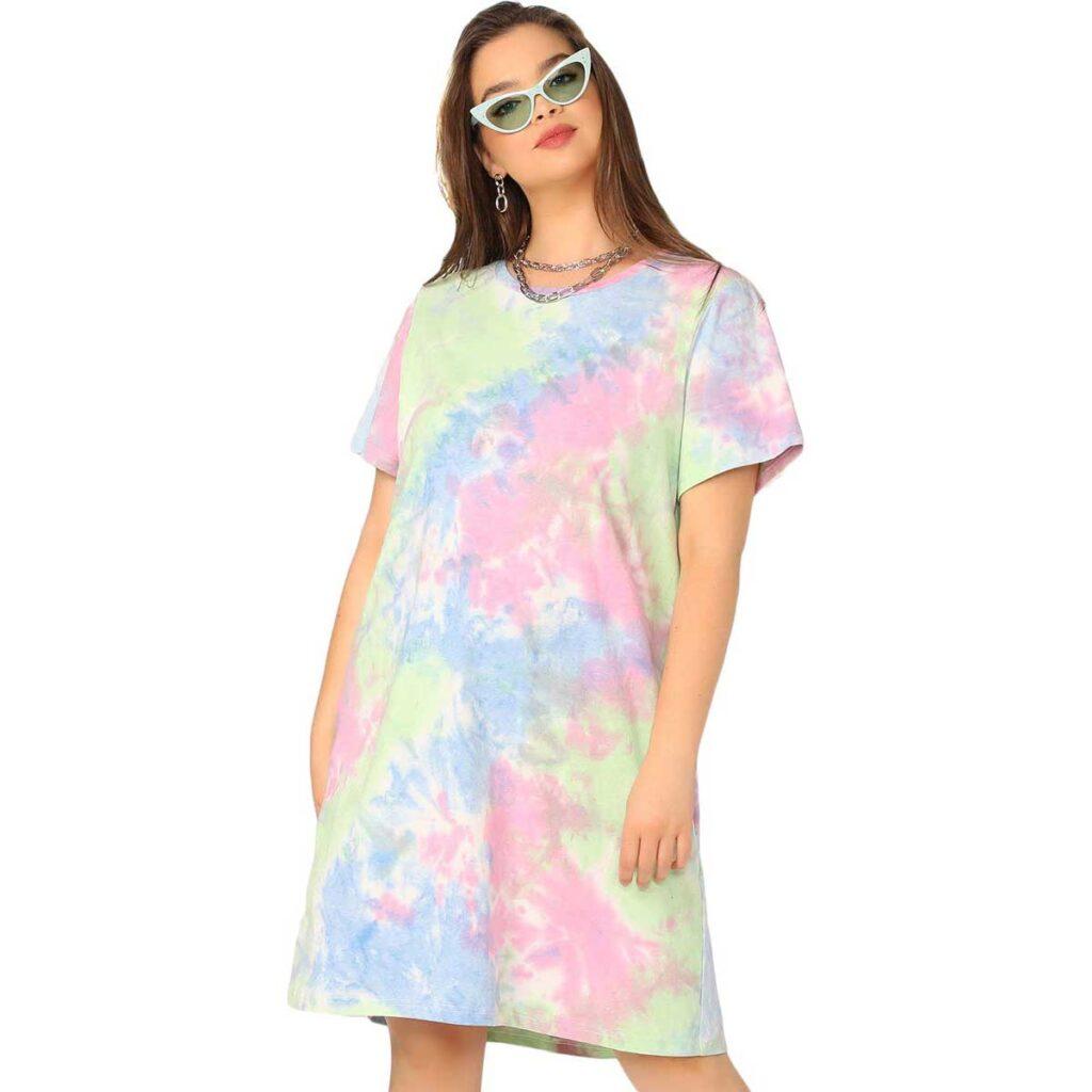 T-Shirt-Dress-Romwe