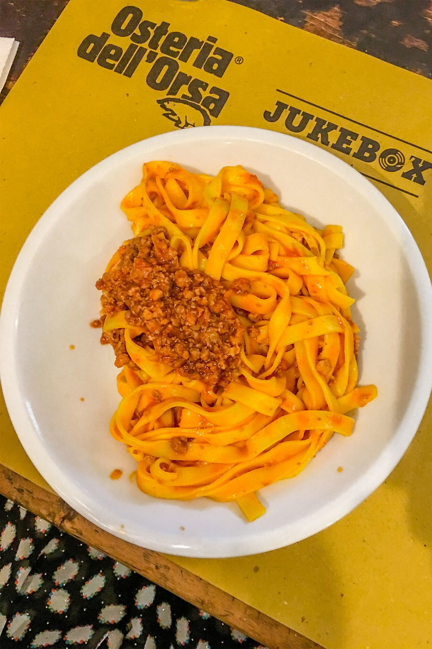 Tagliatelle al Ragu bologna food