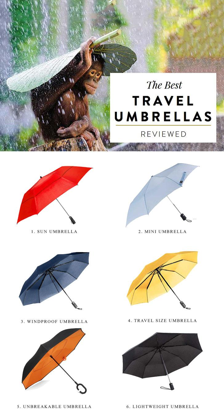 The Best Travel Umbrella for Wind Rain Sun Beach