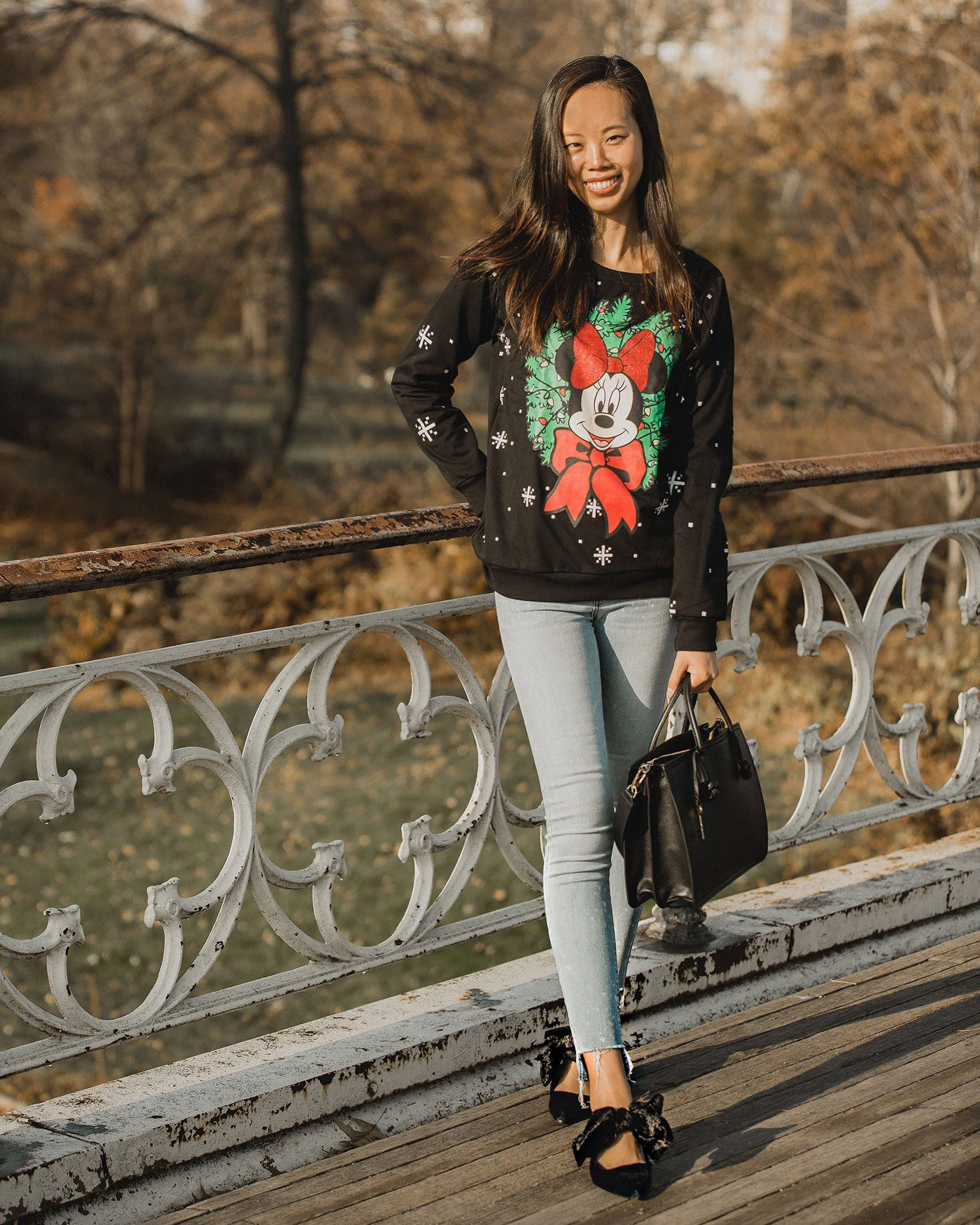 Ugly Holiday Sweater with Disney Minnie Mouse