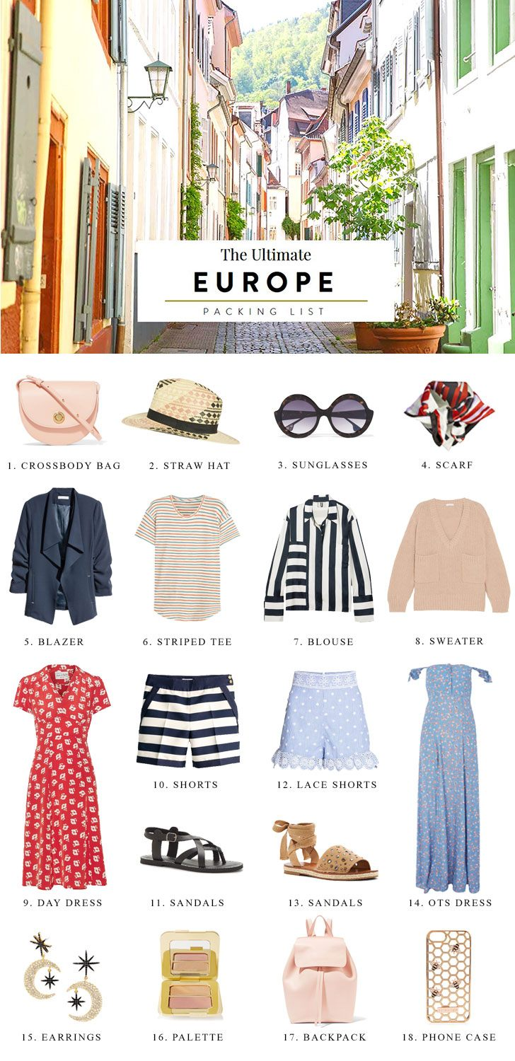Here S Your Ultimate Packing List For Europe