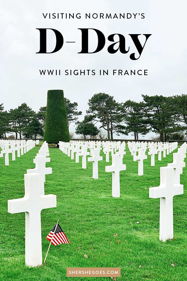 WWII cemetery in colleville sur mer normandy france