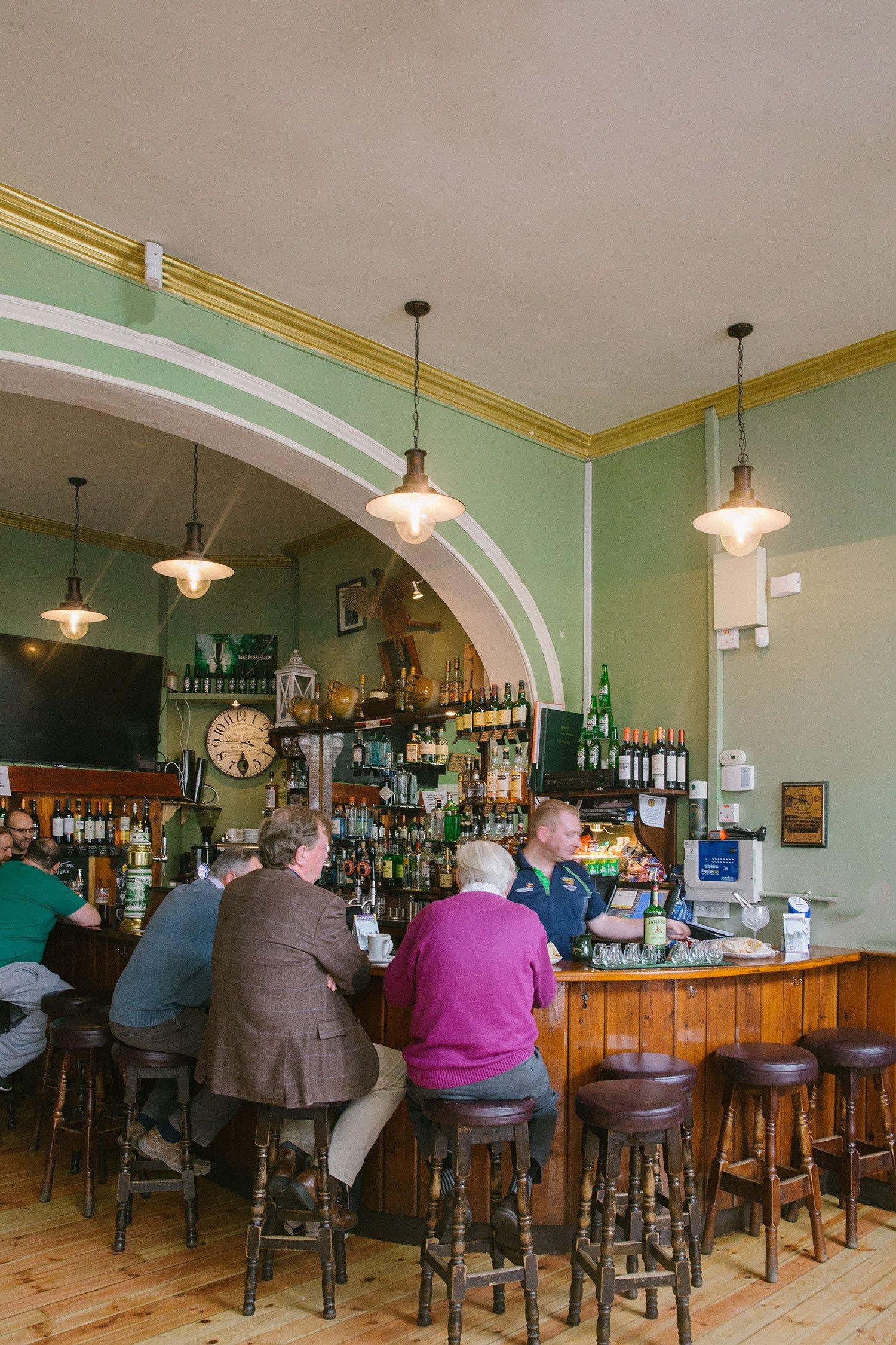 traditonal irish pub in enniscorthy in county wexford ireland