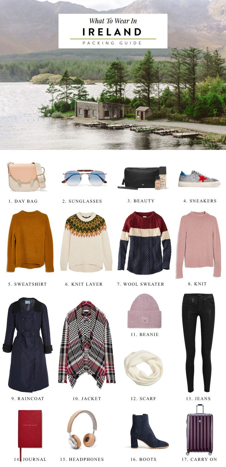 What to Wear in Ireland Packing List