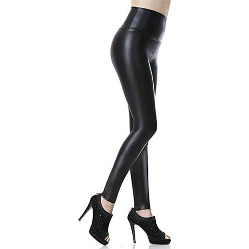 affordable faux leather leggings