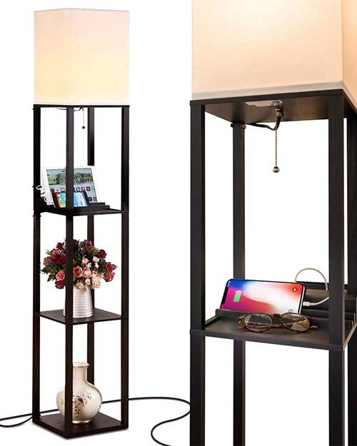 amazon Floor Lamp with Shelf