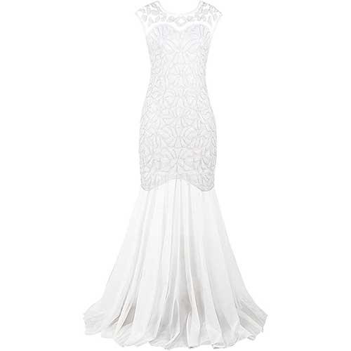 amazon long white dress