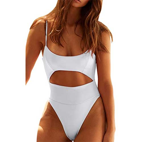 amazon scoop neck white one with cutouts