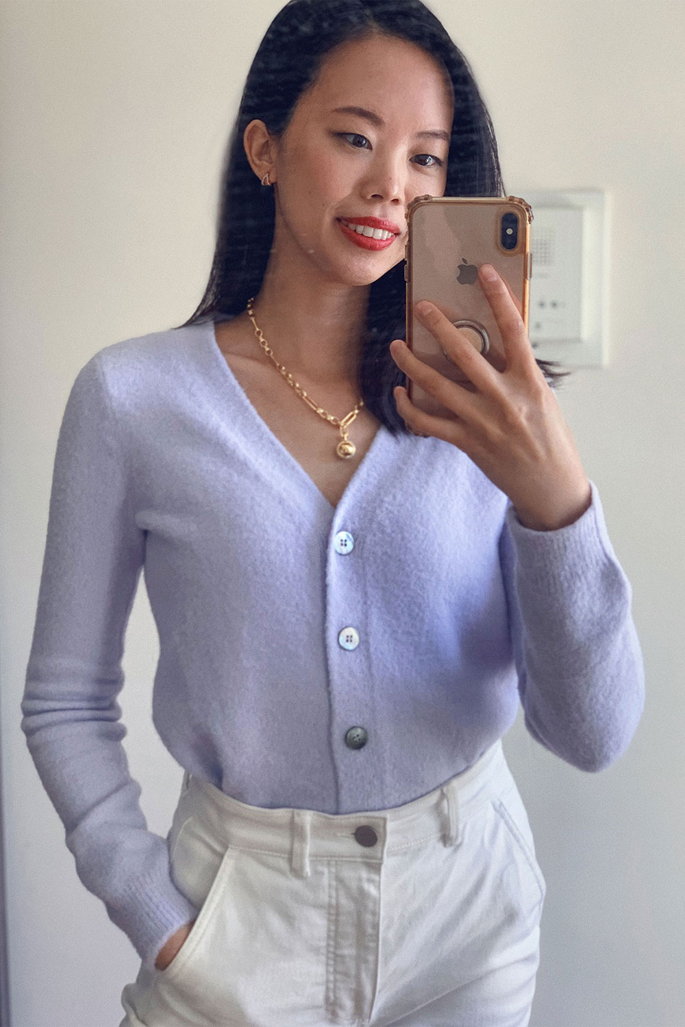 amazon-the-drop-cozy-cardigan-outfit-francine-review