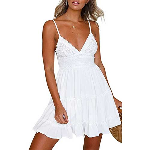 backless white dress amazon