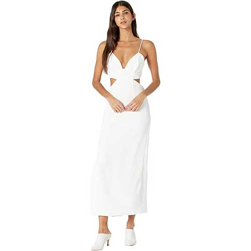 bardot-white-midi-dress-with-cutouts