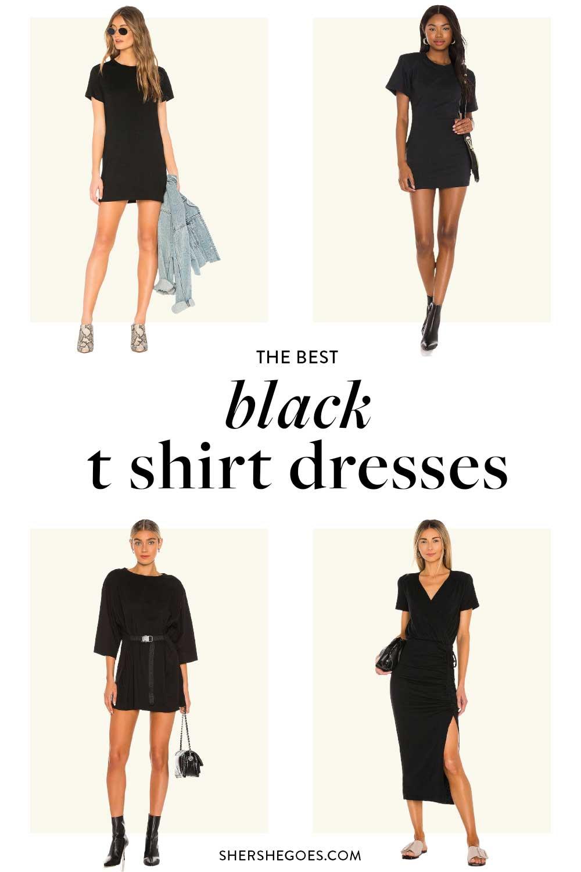 best-black-t-shirt-dress