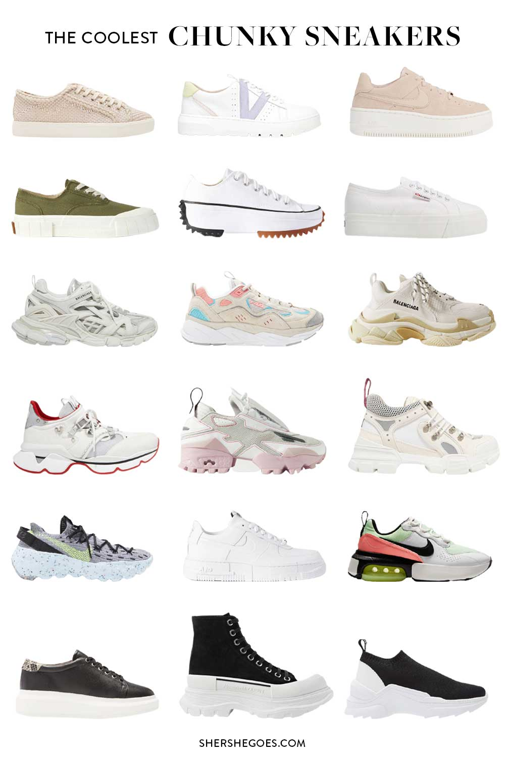 best-chunky-sneakers