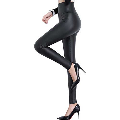 best sexy faux leather leggings