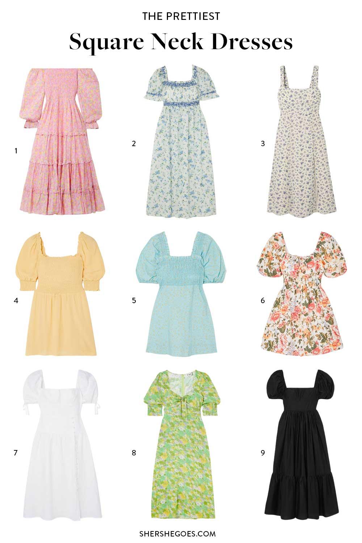 best-square-neck-dresses