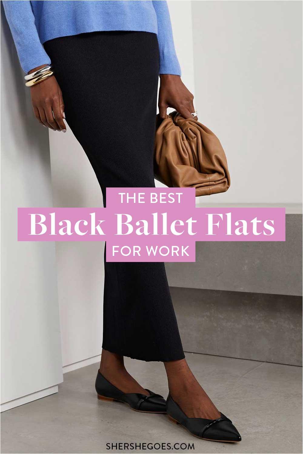 black ballet flats outfit