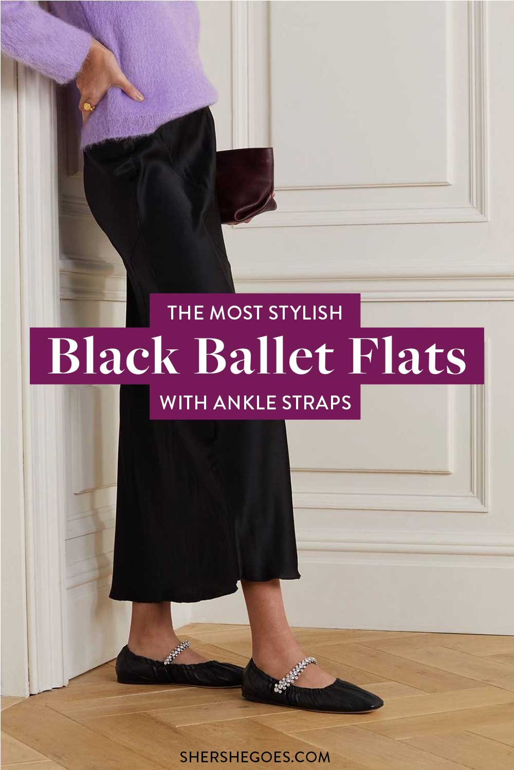 black-ballet-flats-with-ankle-strap
