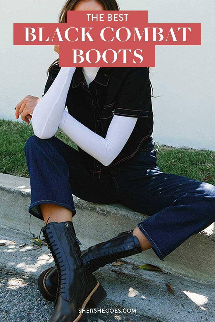 black-combat-boots