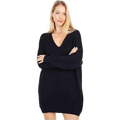 black-sweater-dress
