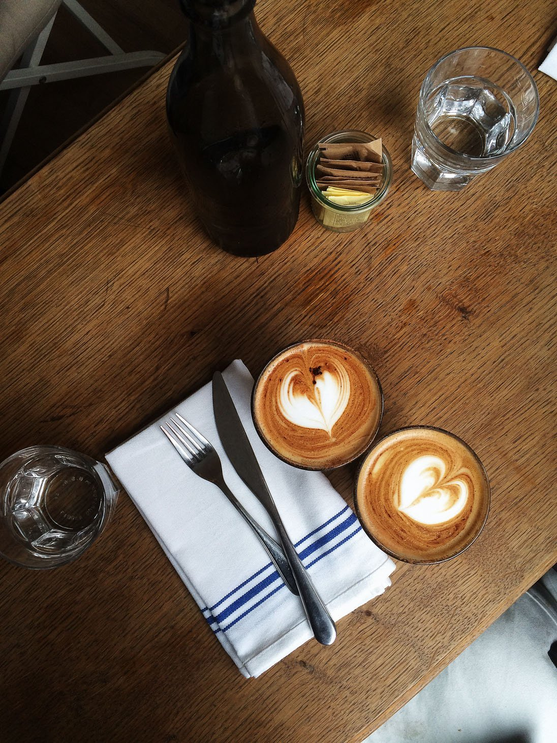 bluestone lane coffee cafe west village brunch healthy gluten free cortado latte banana bread