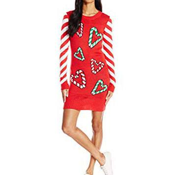 candy cane hearts dress