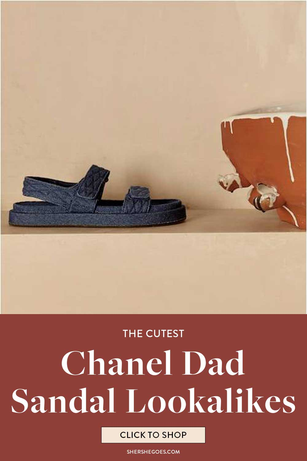 chunky dad sandals like chanel