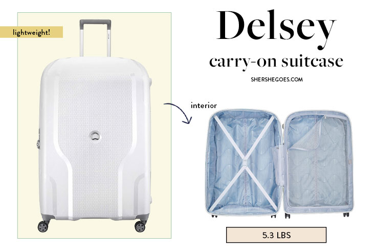 delsey-lightweight-carry-on-spinner-luggage