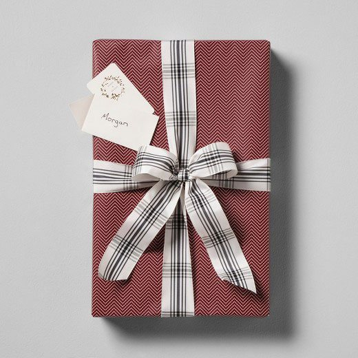 farmhouse christmas plaid wrapping paper